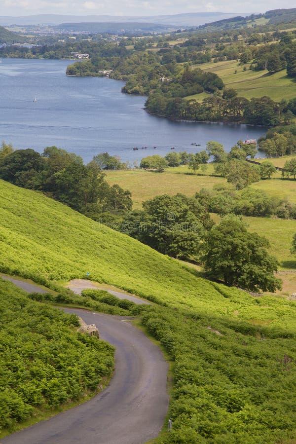 Image of path leading to Ullswater Lake royalty free stock photos