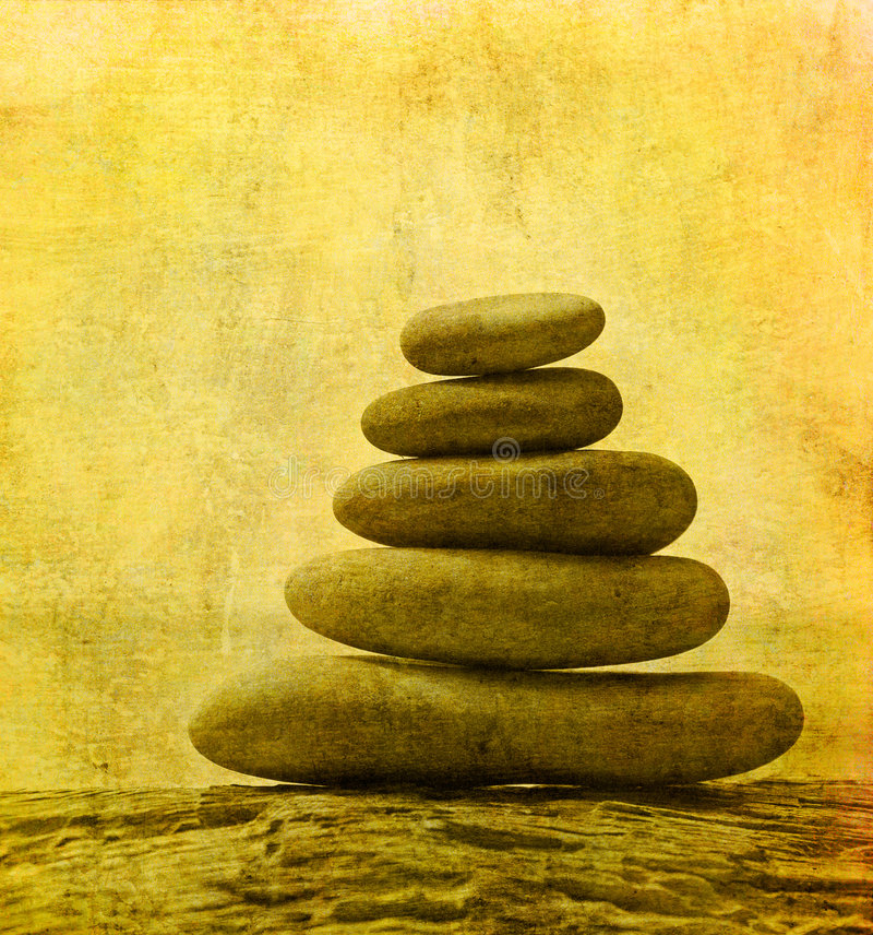 Image of pebble stack royalty free illustration