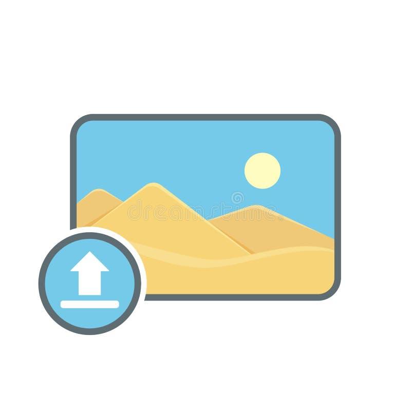 Image photo photography picture upload icon. Vector illustration stock illustration