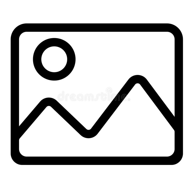Image, photo, picture icon vector illustration