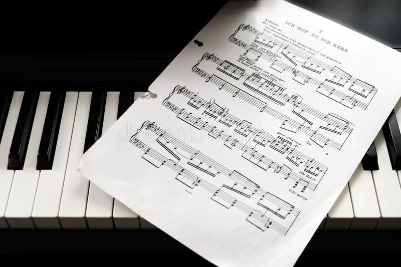 Piano Key and notes vector illustration