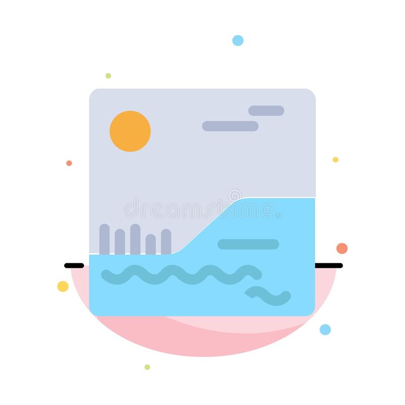 Image, Picture, Canada Abstract Flat Color Icon Template stock illustration