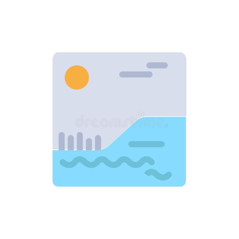 Image, Picture, Canada  Flat Color Icon. Vector icon banner Template royalty free illustration