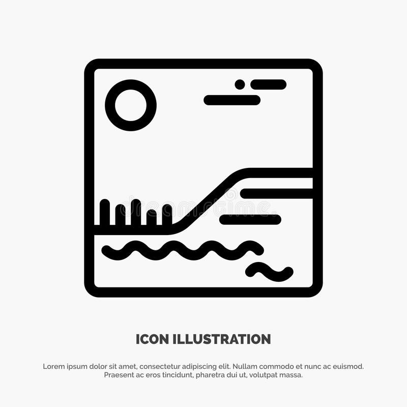 Image, Picture, Canada Line Icon Vector royalty free illustration