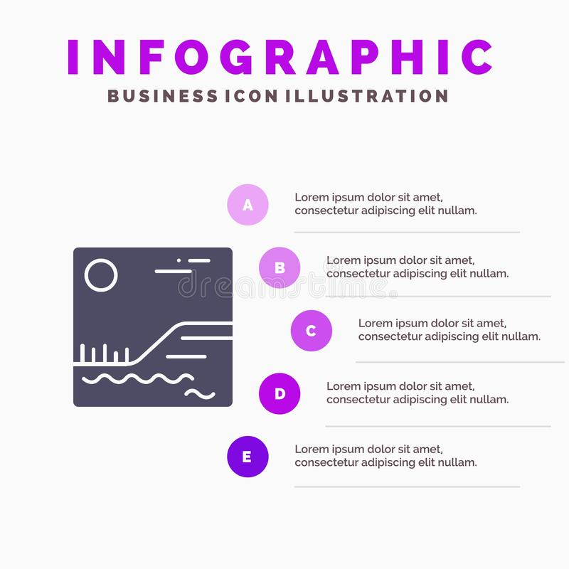 Image, Picture, Canada Solid Icon Infographics 5 Steps Presentation Background stock illustration