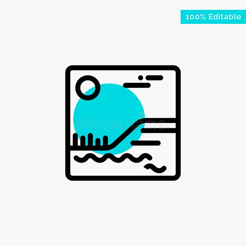 Image, Picture, Canada turquoise highlight circle point Vector icon stock illustration