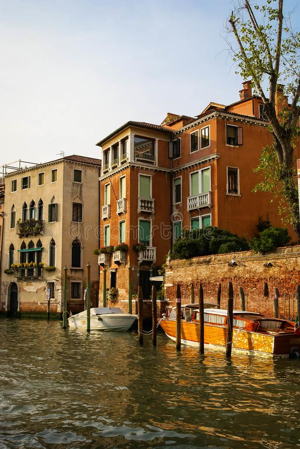 Image of picturesque chanels of Venice, Italy. Image of picturesque chanels of Venice in Italy stock images