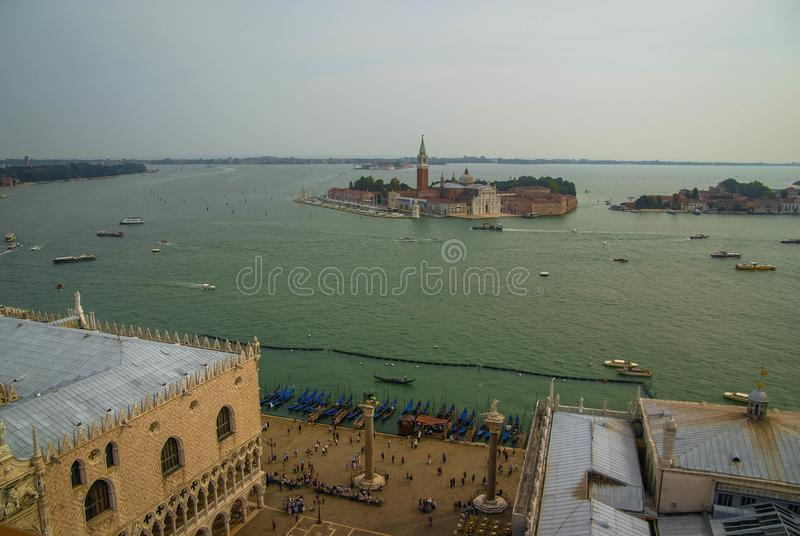 Image of picturesque chanels of Venice, Italy. Image of picturesque chanels of Venice in Italy royalty free stock photos