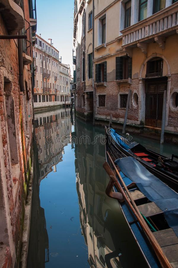 Image of picturesque chanels of Venice, Italy. Image of picturesque chanels of Venice in Italy royalty free stock photo