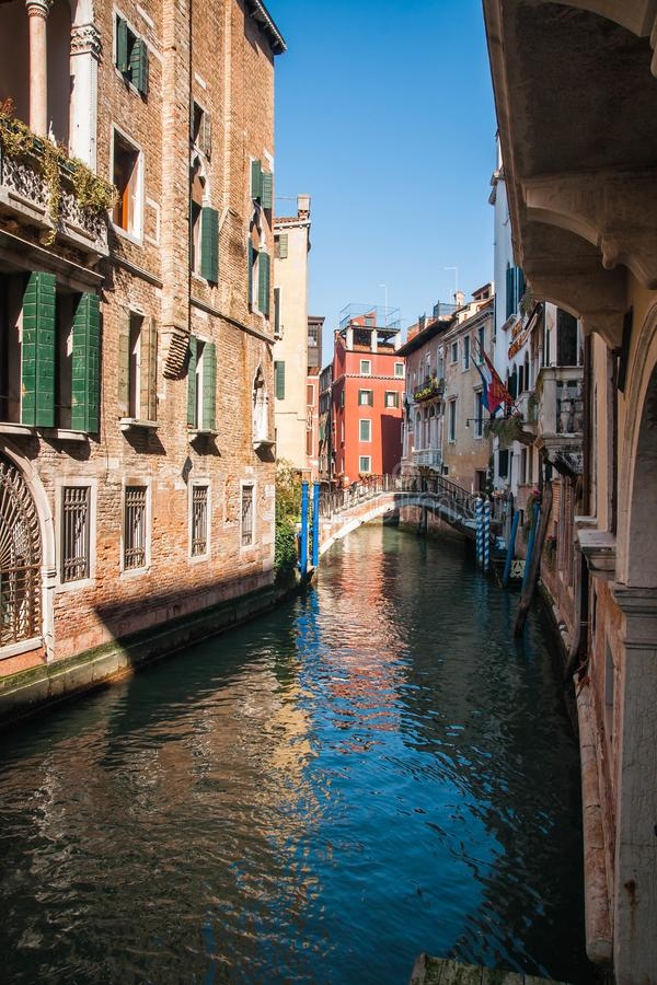 Image of picturesque chanels of Venice, Italy. Image of picturesque chanels of Venice in Italy royalty free stock photography
