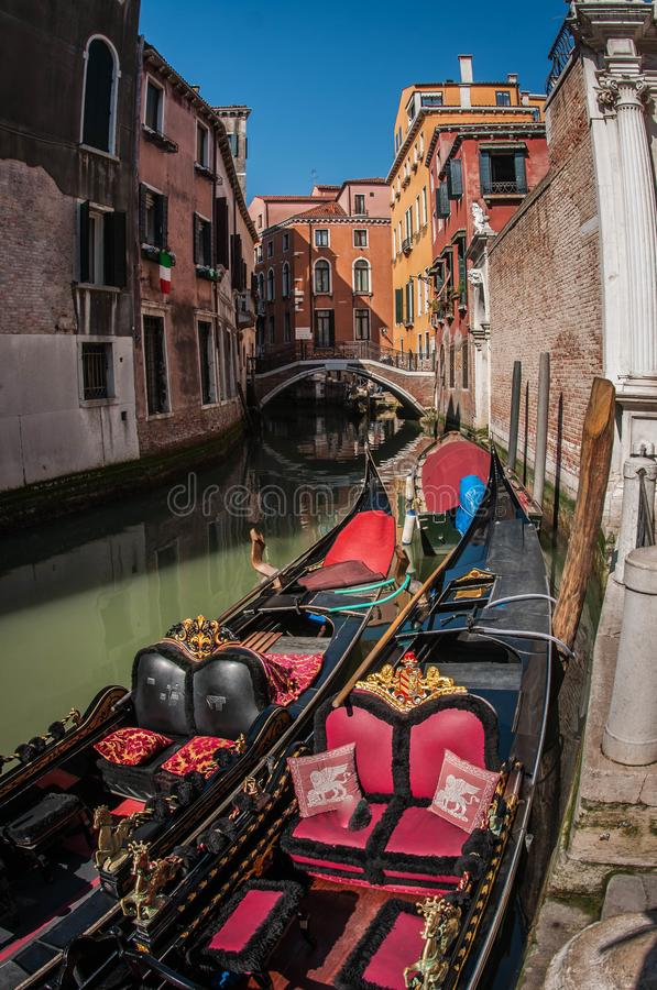 Image of picturesque chanels of Venice, Italy. Image of picturesque chanels of Venice in Italy stock photography