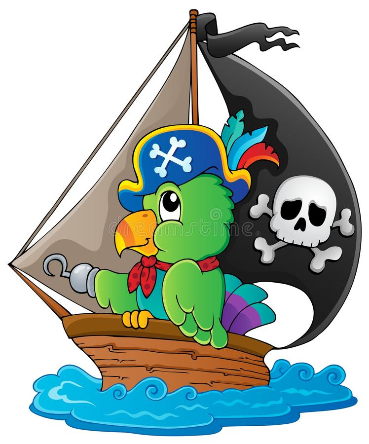 Download Image With Pirate Parrot Theme 1 Stock Vector - Image: 27958613