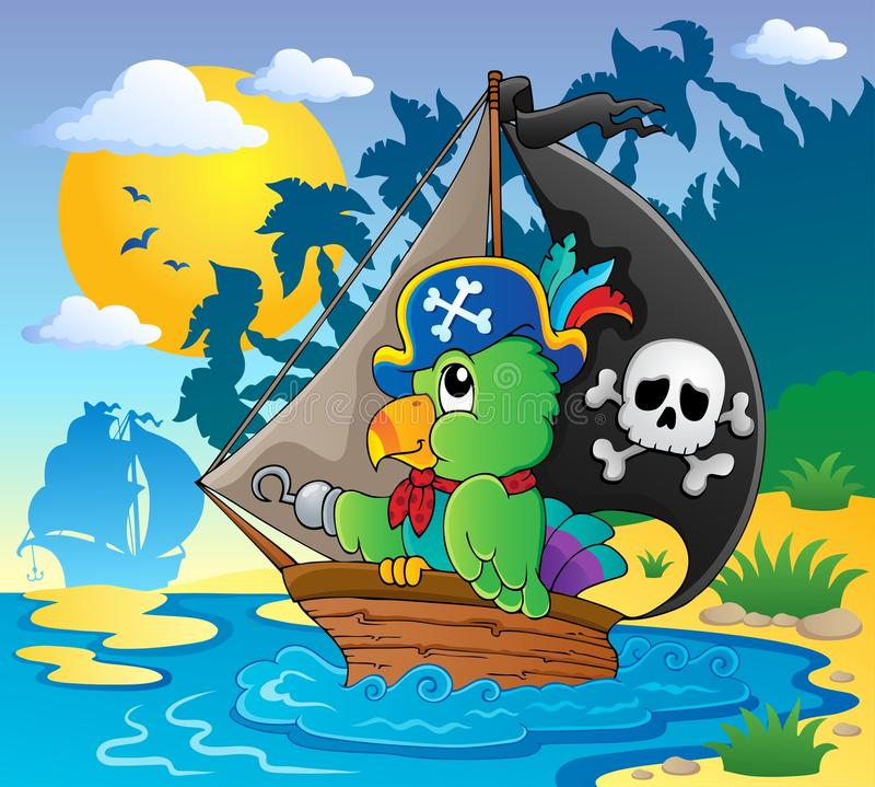 Download Image With Pirate Parrot Theme 2 Stock Vector - Image: 28006514