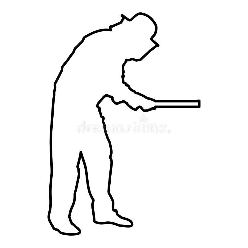 Image plate de style d'illustration de vecteur d'ensemble de couleur de noir d'icône d'Apiarist de planche de nid d'abeilles de p illustration de vecteur