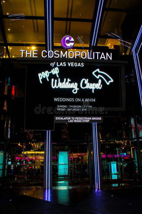 Download Pop Up Wedding Chapel Las Vegas NV Editorial Image