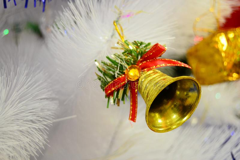 Bell Christmas for your banner and Brochure. This Image for poster and brochure stock photography