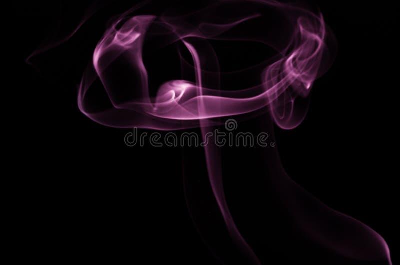 Image pourpre de fumée image stock