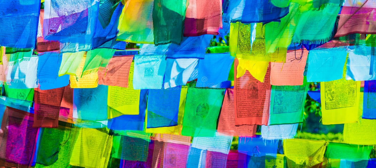 Prayer flags. Image Of Prayer Flags For Background royalty free stock photos