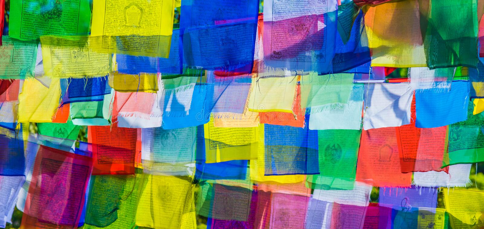 Prayer flags. Image Of Prayer Flags For Background stock photo