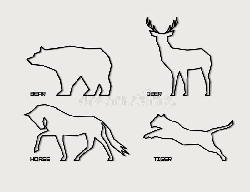 picture about Free Printable Forest Animal Silhouettes identified as Vector Animal Silhouettes Inventory Examples 11,315