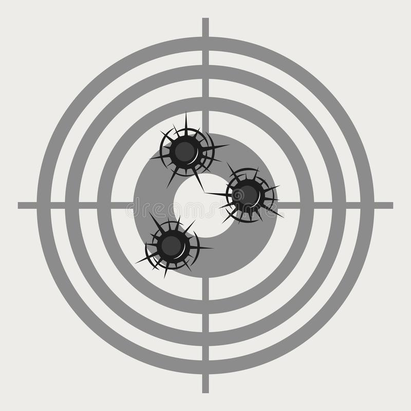 Accurate hits in a target vector illustration. On the image presented accurate hits in a target vector illustration stock illustration