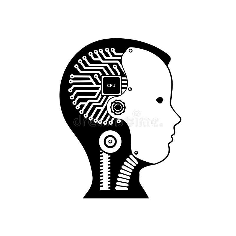 Icon Robot Cybernetic Organism Stock Vector