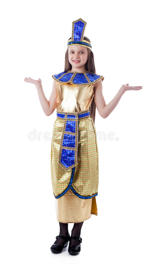 Image of pretty girl posing in Cleopatra costume royalty free stock photography