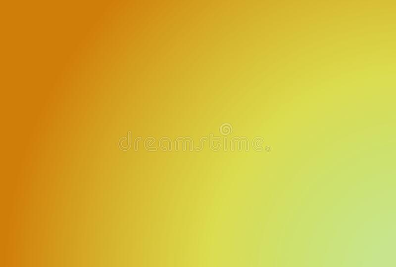 Image of a primary color gradient from yellow. Gradient from yellow, primary color, to light lime green. Image for cheerful and summery backgrounds stock illustration