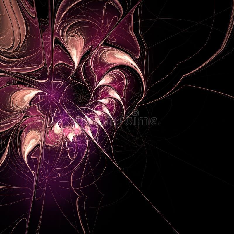 Image produite par Digital Fractale, élégantes colorés, composition extrêmement sensible et translucide en fleur illustration stock