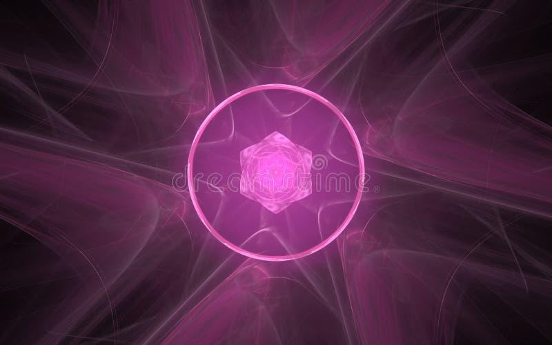 Image produite par Digital sous forme de formes géométriques abstraites de diverses nuances et de couleurs pour l'usage dans le w illustration de vecteur
