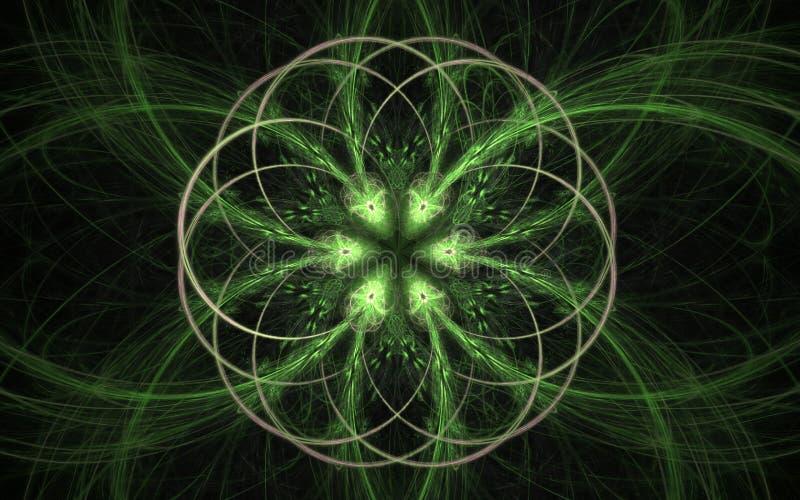 Image produite par Digital sous forme de formes géométriques abstraites de diverses nuances et de couleurs pour l'usage dans le w illustration stock