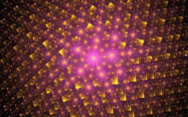 Image produite par Digital sous forme de formes géométriques abstraites de diverses nuances et de couleurs pour l'usage dans le w illustration libre de droits