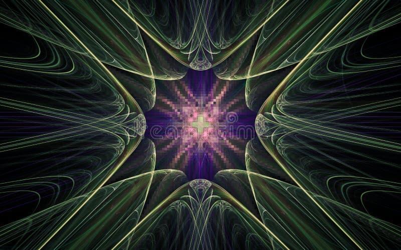 Image produite par Digital sous forme de formes g?om?triques abstraites de diverses nuances et de couleurs pour l'usage dans la c illustration libre de droits