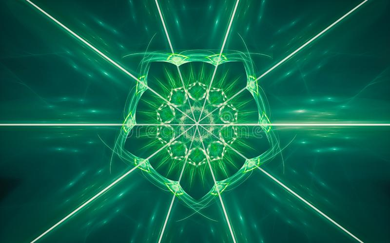 Image produite par Digital sous forme de formes g?om?triques abstraites de diverses nuances et de couleurs pour l'usage dans la c illustration stock