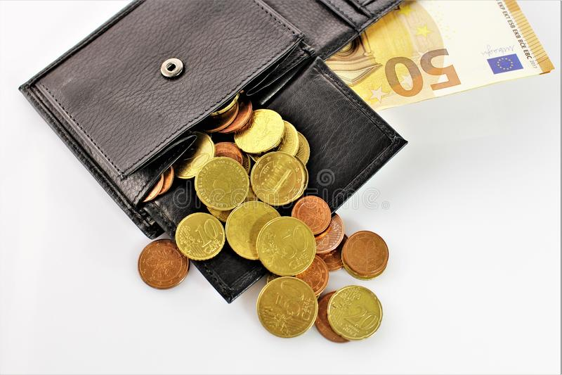 An image of a purse with money. Abstrct - cash royalty free stock photography