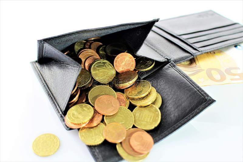 An image of a purse with money. Abstrct - cash stock images