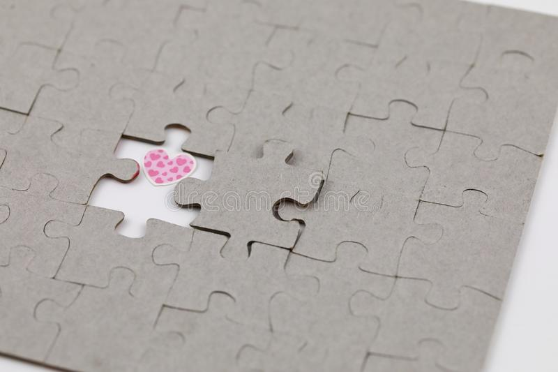 Image of Puzzle piece with love . Business, assemble. Image of Puzzle piece with love , Last piece of jigsaw puzzle , Vector transparent puzzle on white royalty free stock image