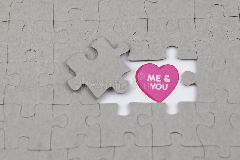 Image of Puzzle piece with me and you . Business, assemble. Image of Puzzle piece with me and you , Last piece of jigsaw puzzle , Vector transparent puzzle on royalty free stock photography