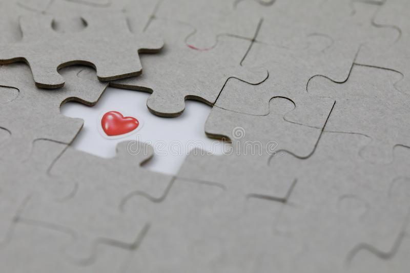 Image of Puzzle piece with Red love. Business, assemble. Image of Puzzle piece with Red love, Last piece of jigsaw puzzle , Vector transparent puzzle on white stock photos