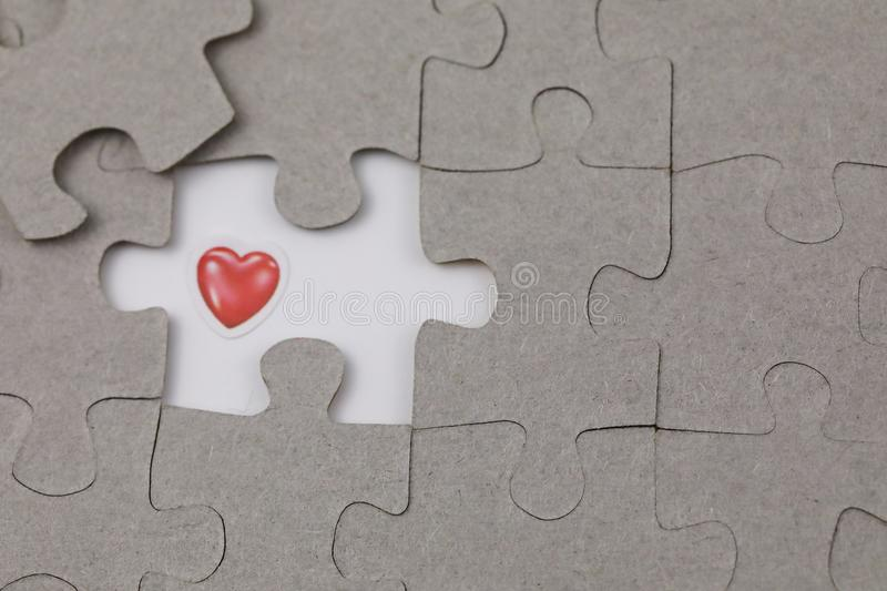 Image of Puzzle piece with Red love. Business, assemble. Image of Puzzle piece with Red love, Last piece of jigsaw puzzle , Vector transparent puzzle on white stock image