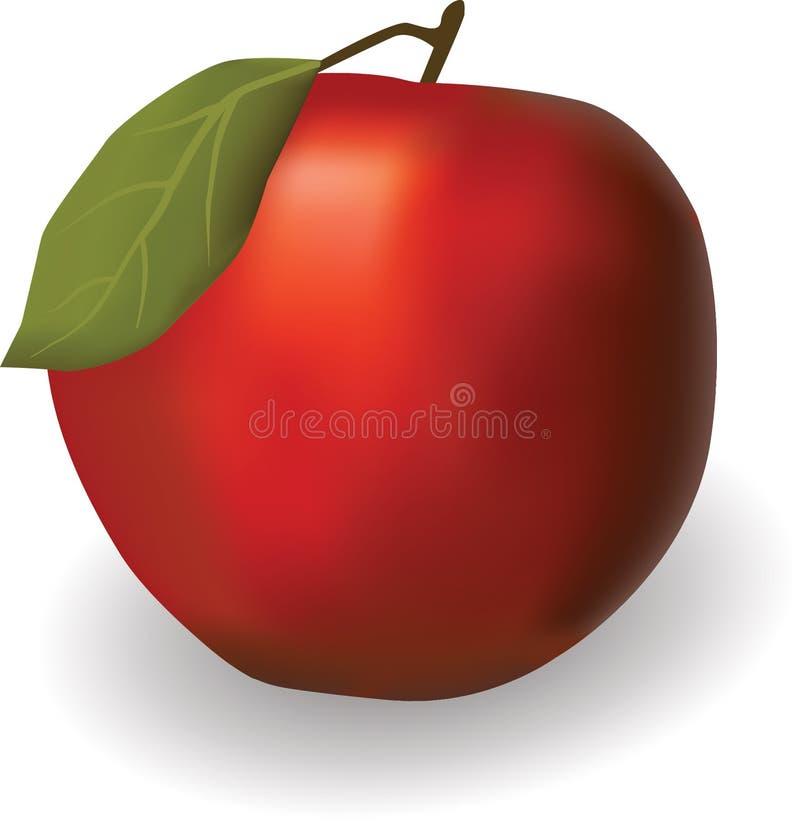 Image réaliste d'une pomme rouge photos libres de droits
