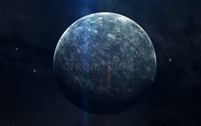 Image réaliste de Mercury, planète de système solaire Image éducative Éléments de cette image meublés par la NASA image libre de droits