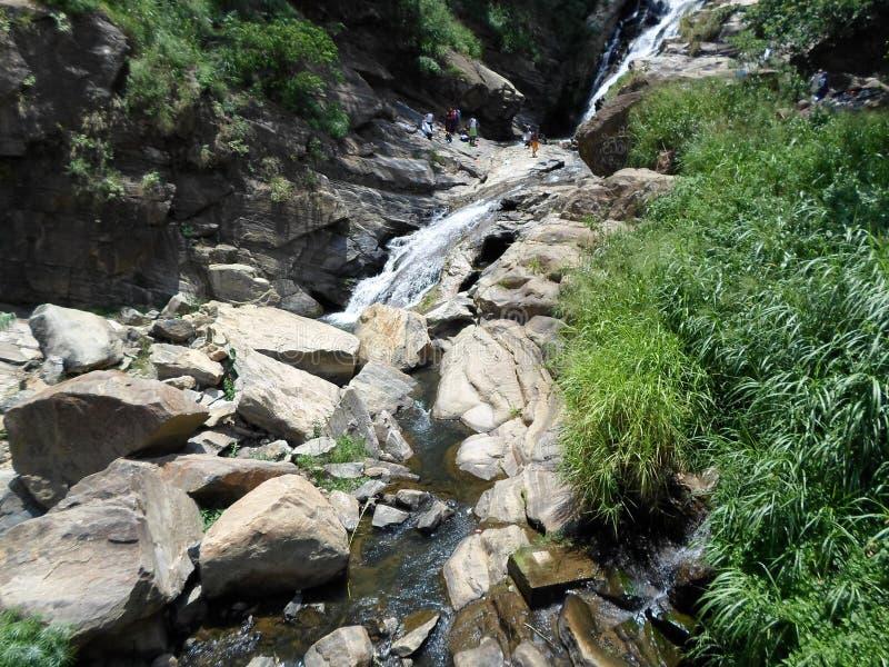 Rawana water falls in lanka royalty free stock image