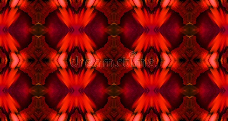 DESIGN PATTERN IN BRIGHT RED AND BLACK stock image
