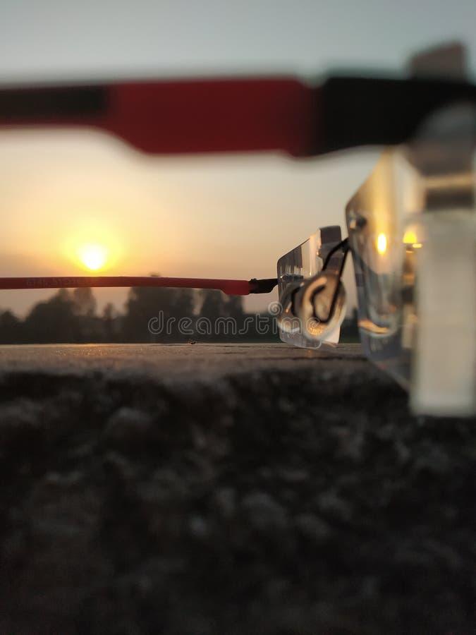 Image reflétée de stupéfier Sun images stock