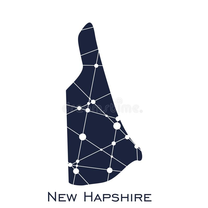 New Hampshire state map stock illustration
