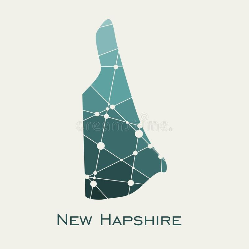 New Hampshire state map vector illustration