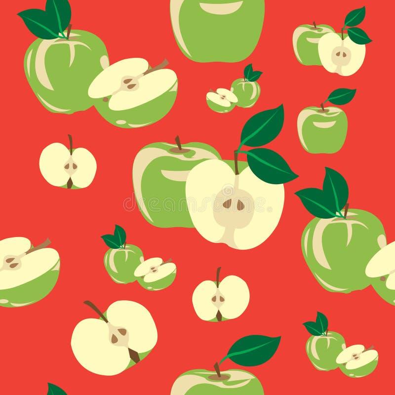 Apples seameless pattern royalty free stock photo
