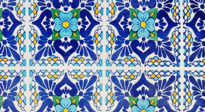 Arabesque background of sicilian ceramics royalty free stock images