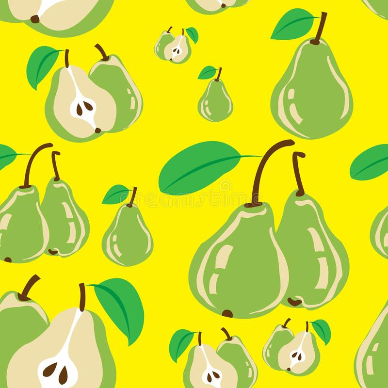 Pears seameless pattern stock photography